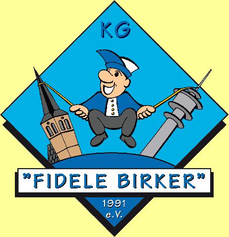 """Logo: Karnevalsgesellschaft """"Fidele Birker"""" 1991 e.V."""